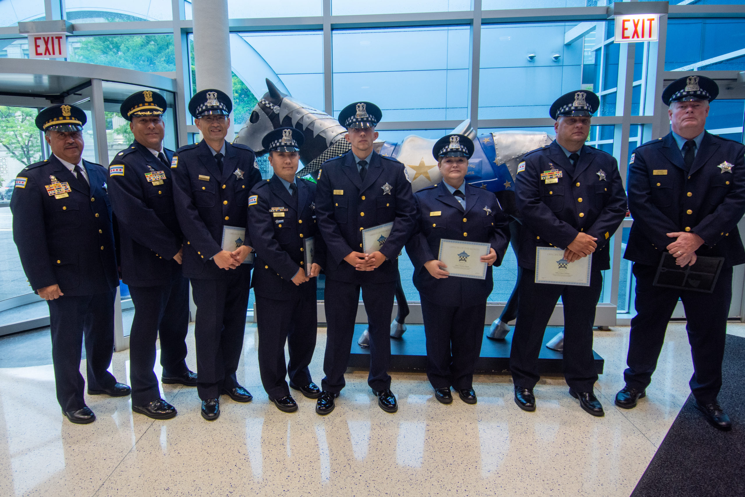 The Chicago Police Memorial Foundation will honor six Chicago Police officers who heroically engaged in a gun-battle.